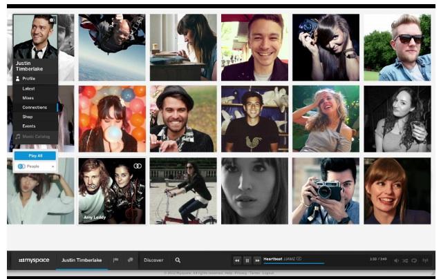 Justin Timberlake Myspace Profile